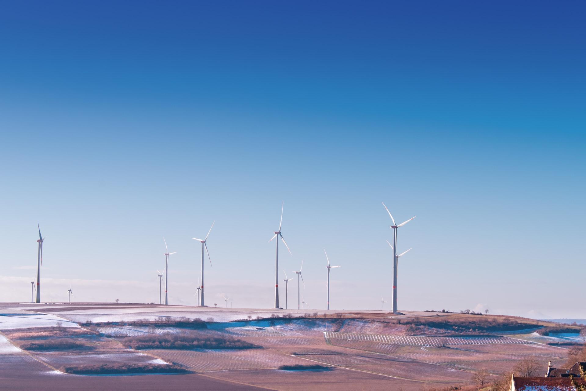duurzaam stroom opgewekt met wind